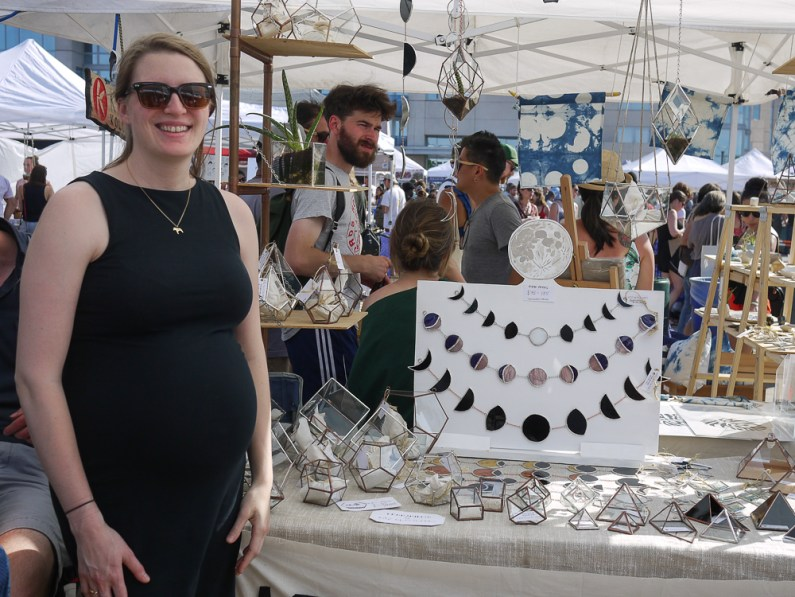 ABJ Glassworks at Renegade Craft Fair, Brooklyn 2015