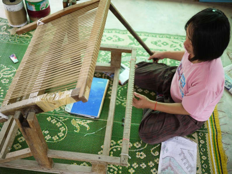 Preparing the ikat pattern