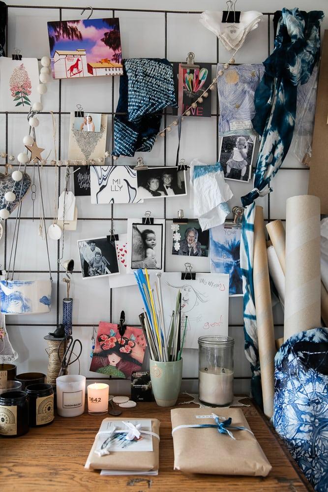 Imby's studio.