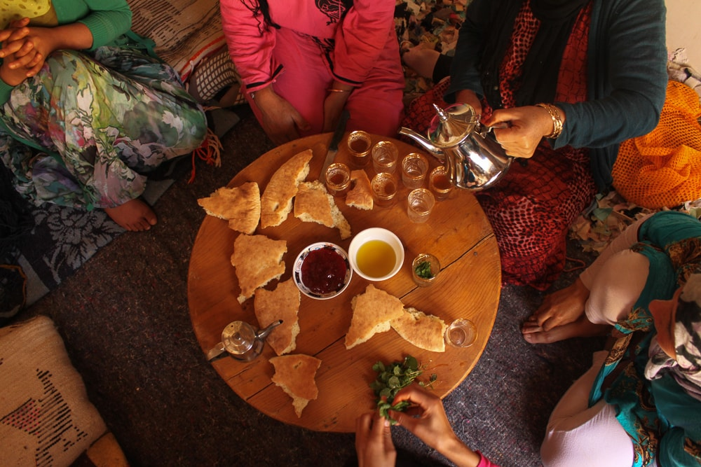 Tea time at the Timdokkals Cooperative
