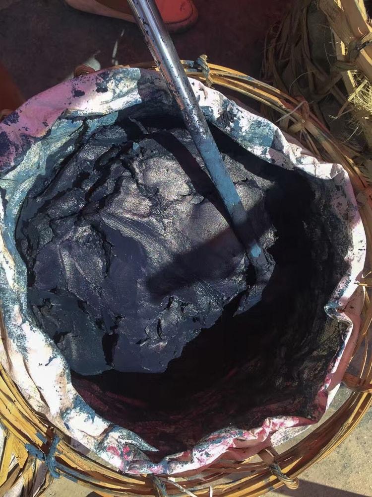 Indigo paste for dyeing