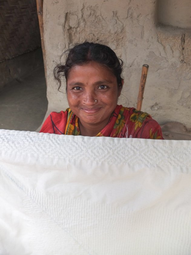 Smiling quilter