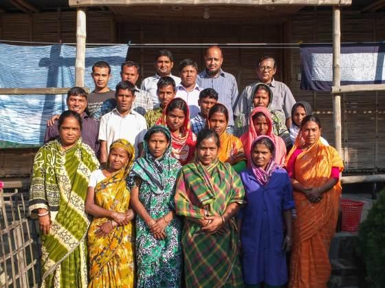 The Living Blue team