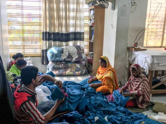 Fabrics at Uttara embroidery workshop - Handmade Textiles Of Bangladesh