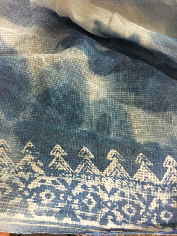 Wax-resist painted indigo at Aranya – Handmade Textiles of Bangladesh