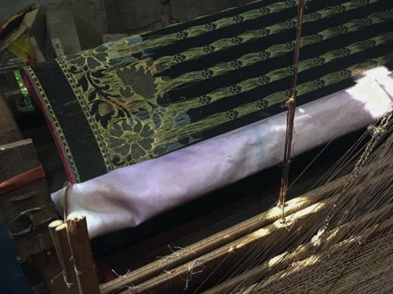 Benaroshi fabric on loom – Handmade Textiles of Bangladesh
