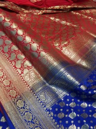 Multicolored Benaroshi saree fabric – Handmade Textiles of Bangladesh