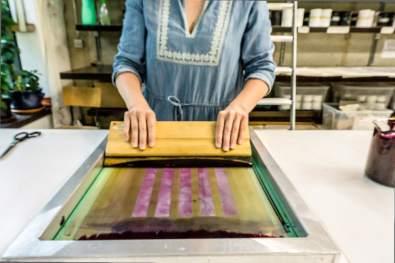 Organic Prints — Natural Dye Silk Screen