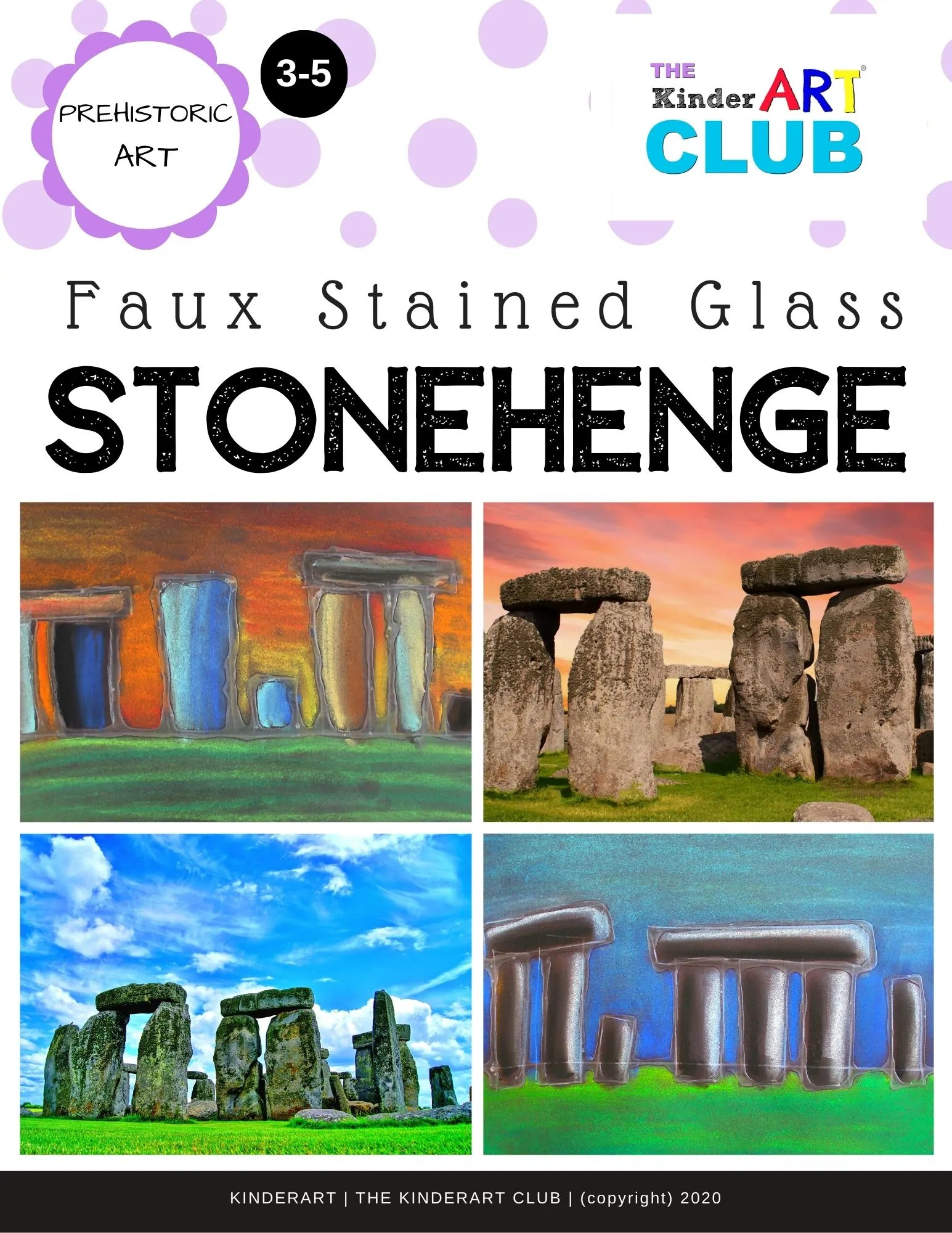 Lesson Faux Stained Glass Stonehenge