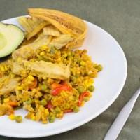 Arroz con Fauxllo (Vegan chicken and yellow rice)
