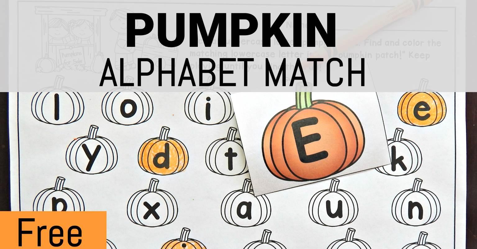 Pumpkin Alphabet Match