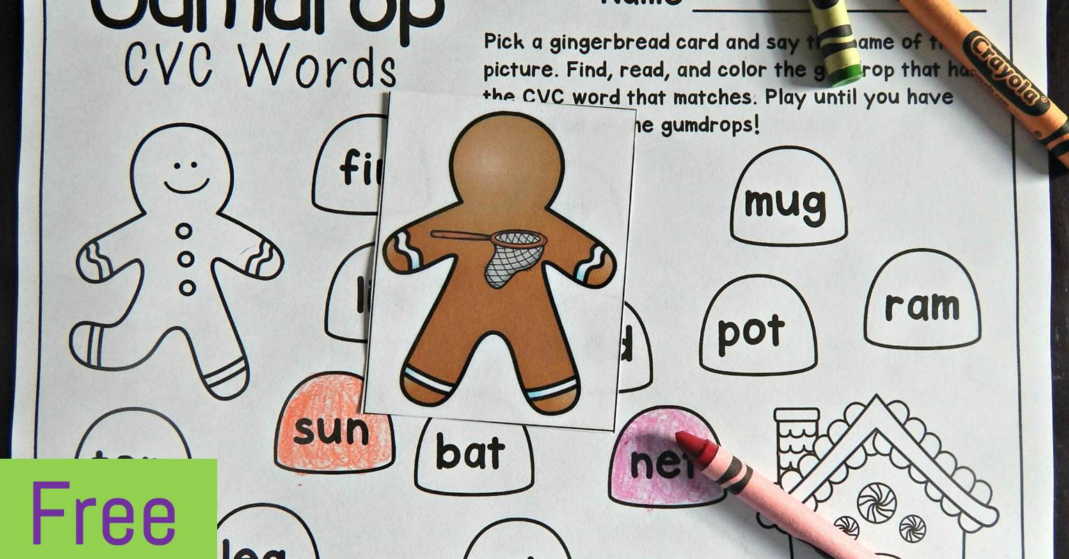 Free Gingerbread Cvc Game