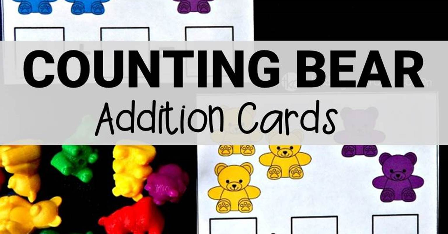 Counting Bear Addition Cards