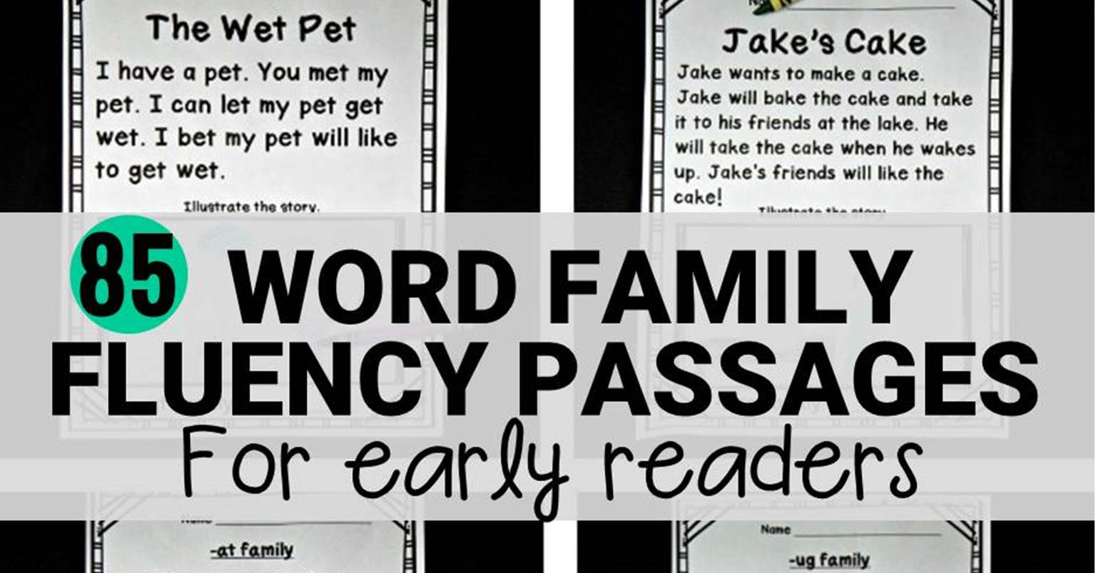 Printable Reading Fluency Passages