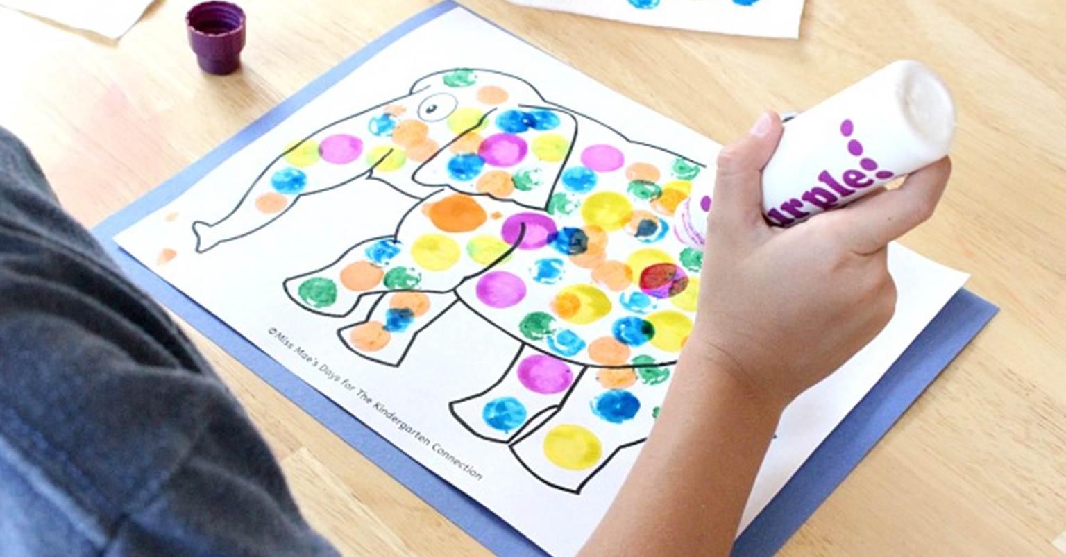 Dot Art Elmer Craft For Kindergarten Read Alouds