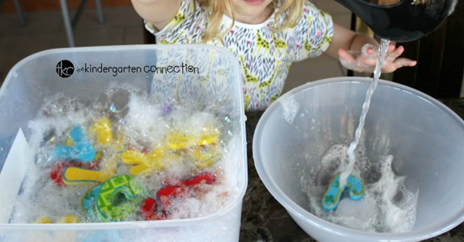 Blowing Bubbles Alphabet Sensory Bin The Kindergarten