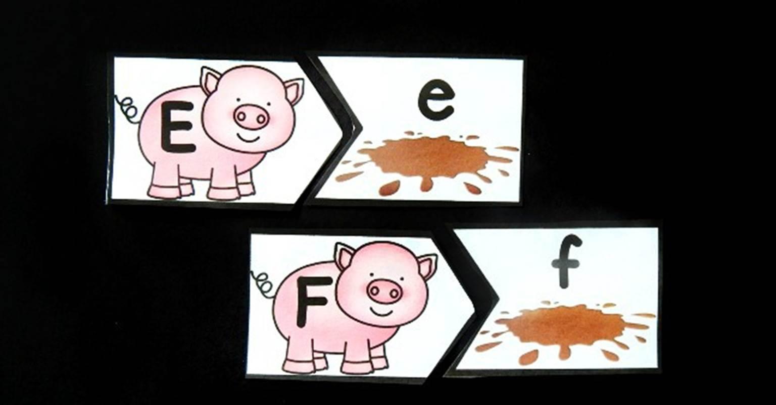 Pigs In The Mud Alphabet Match