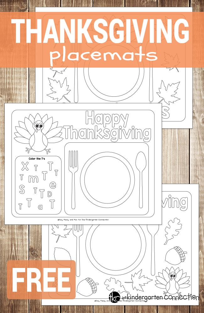 Snap Thanksgiving Placemats Thanksgiving Wikii Photos On