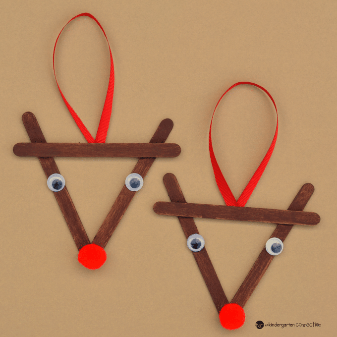 Popsicle stick reindeer ornaments