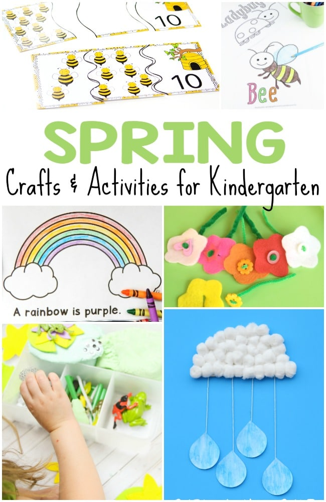 Spring Crafts Kindergarten Students