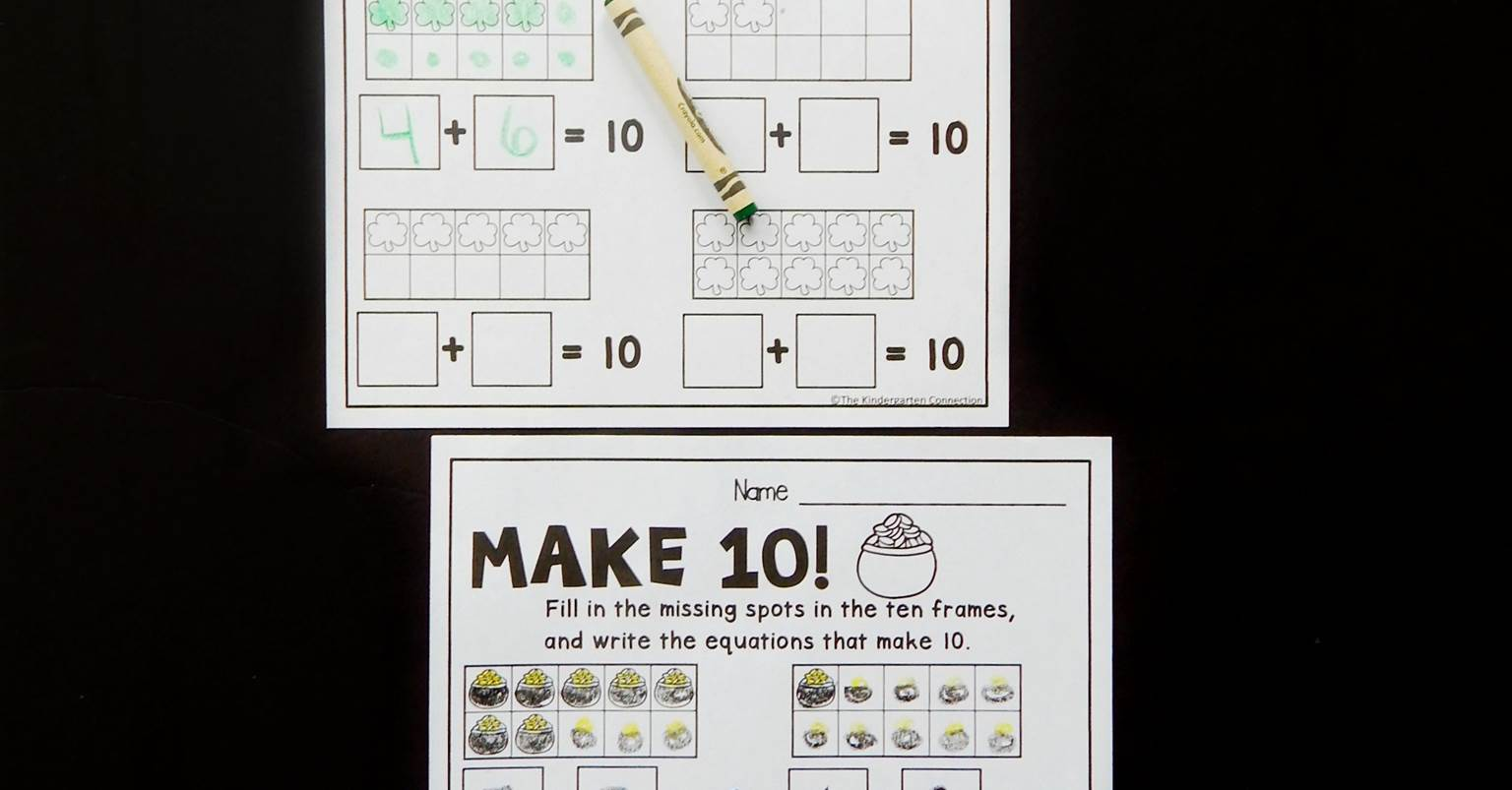 Free St Patrick S Day Make 10 Worksheets