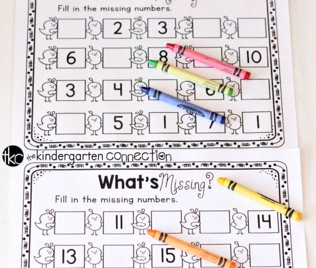 Missing Numbers Free Printable