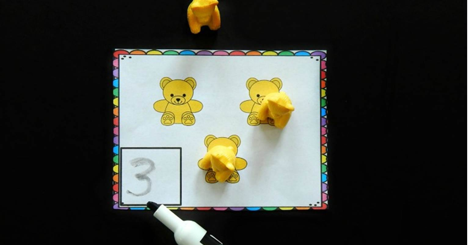 Counting Bear Counting Cards Printable Math Center