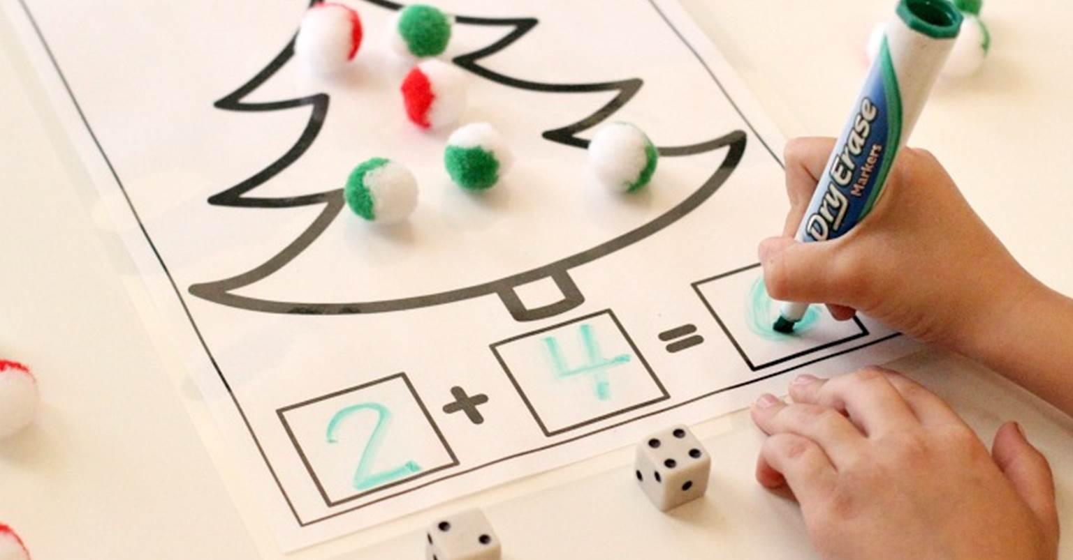 Christmas Addition And Subtraction Printable Math Mats
