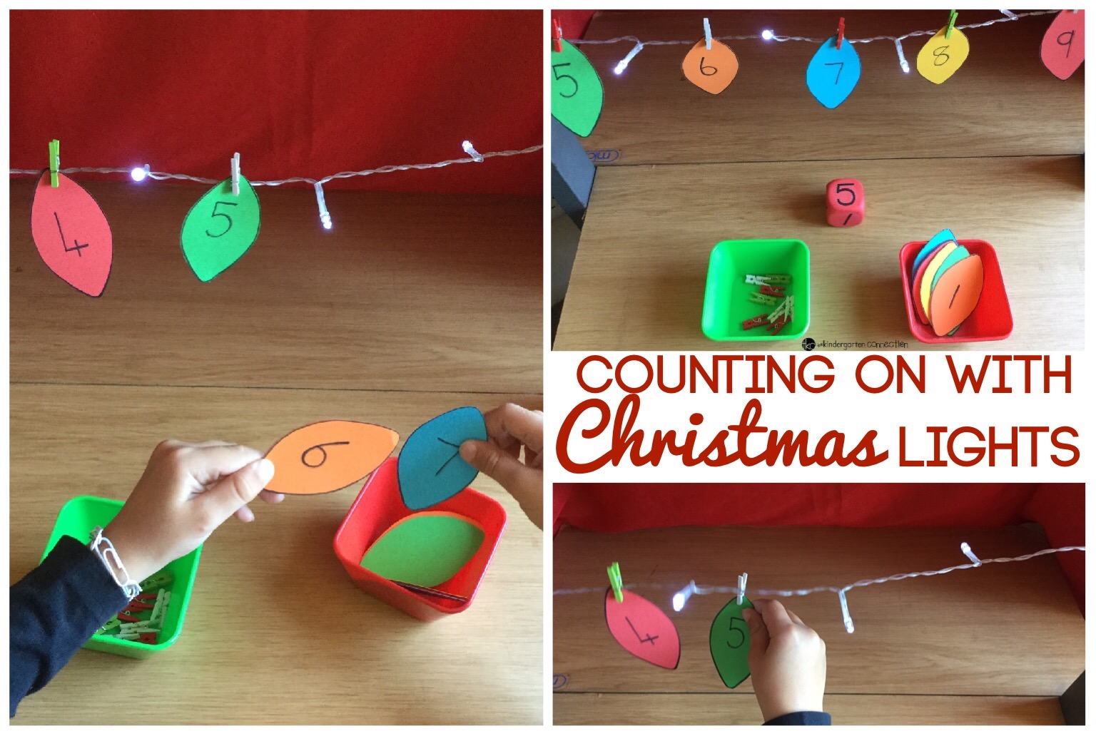 Christmas Lights Counting On Activity