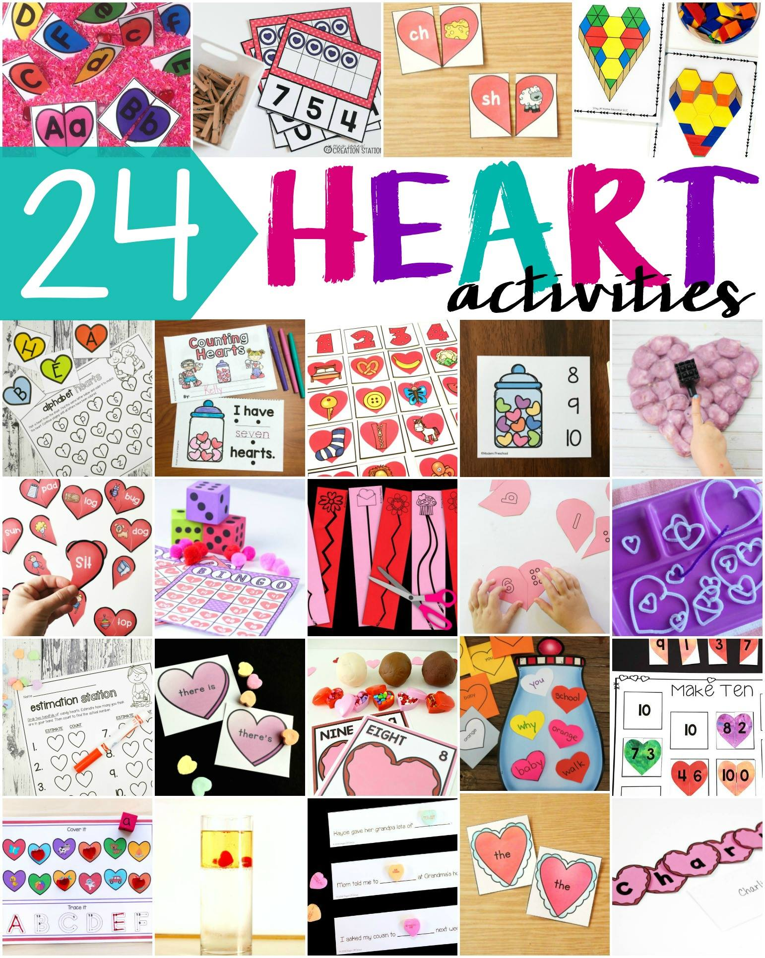 Heart Digraph Puzzles For Valentine S Day