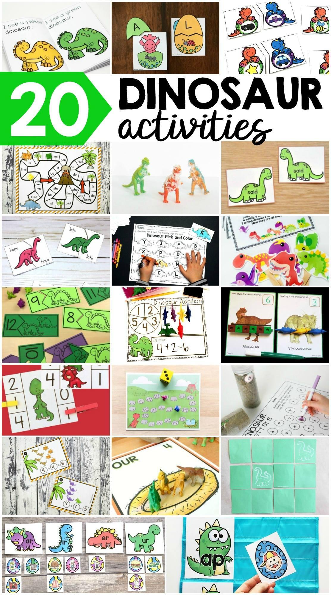 Editable Sight Word Dinosaur Game For Any Word List