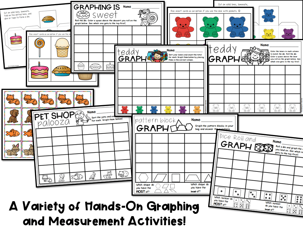 Graphing And Measurement Activities For Pre K And Kindergarten