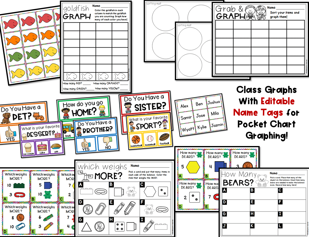 Graphing And Measurement Activities For Pre K And