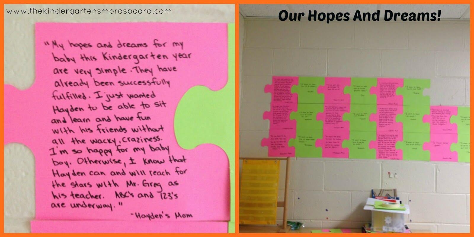 Kindergarten Hopes And Dreams Gallery