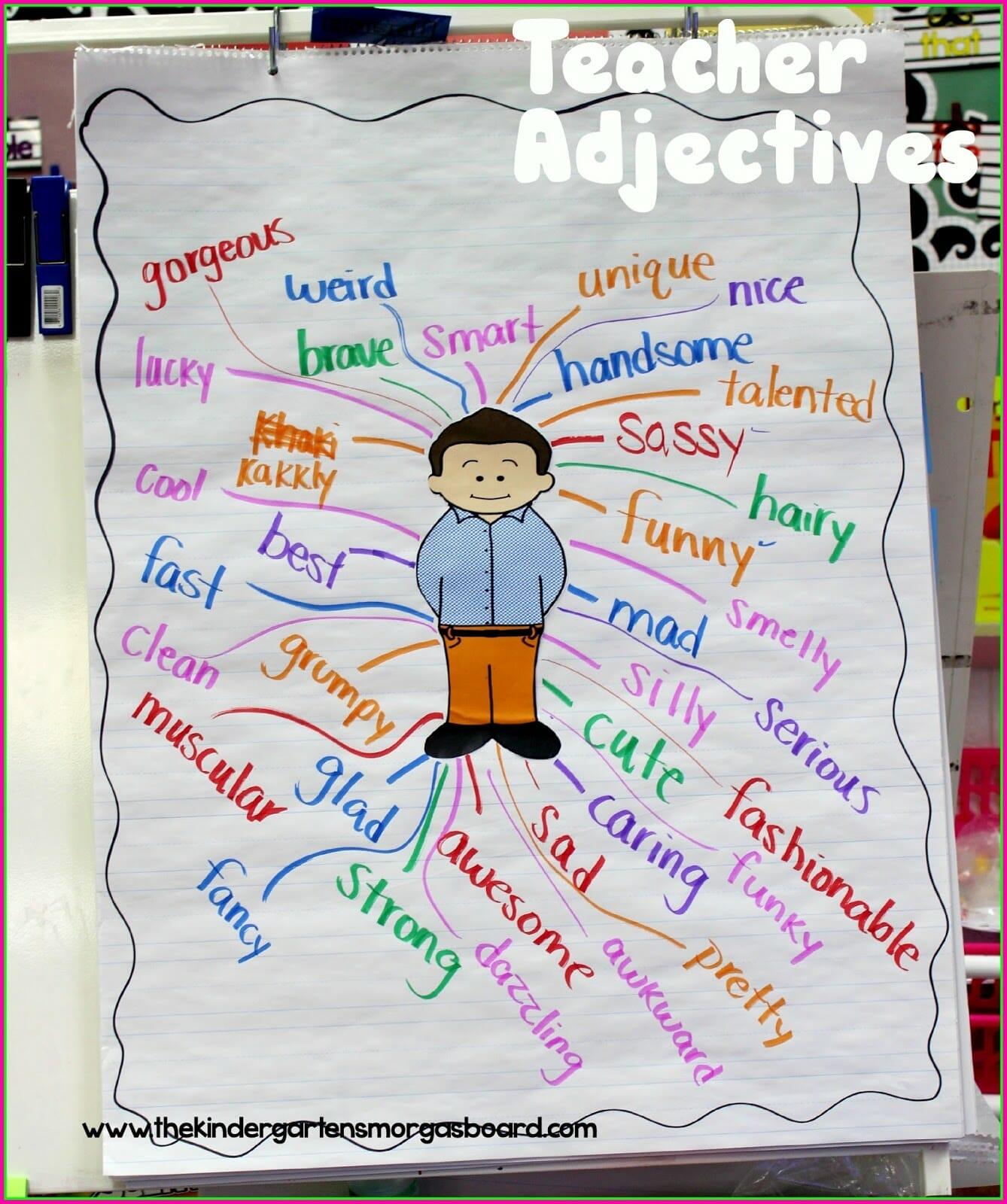 A Kindergarten Smorgasboard Of Sparkling Adjectives