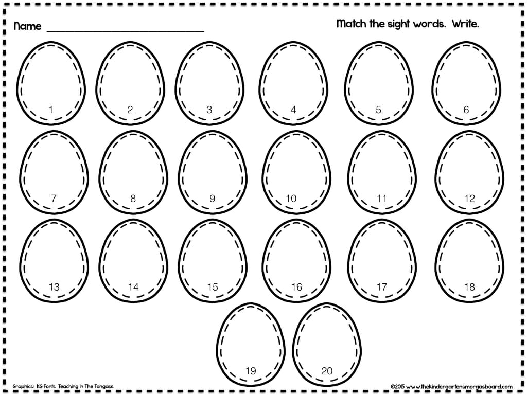 A Kindergarten Smorgasboard Plastic Eggs Math And Literacy