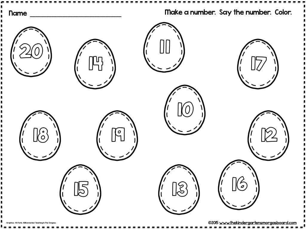 A Kindergarten Smorgasboard Plastic Eggs Math And Literacy