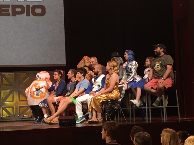What, no Jar Jar Binks cosplayers in the audience?