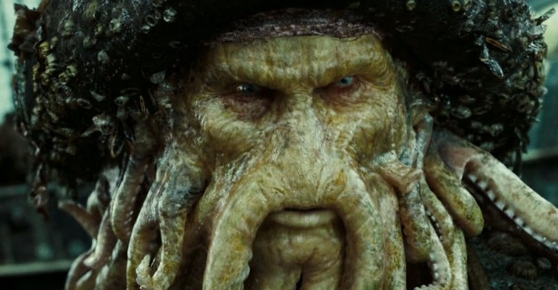 "Davy Jones (Bill Nighy) became encrusted with sea life when he turned to ""the dark side."" 