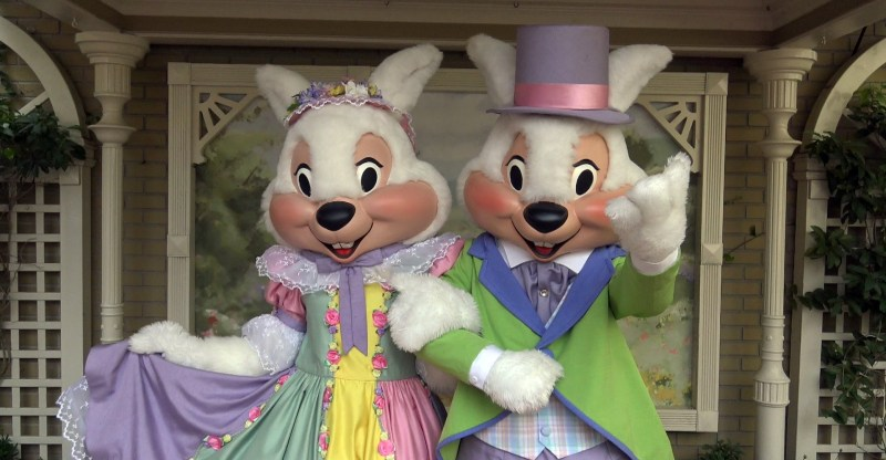 Mr. and Mrs. Easter Bunny in the Magic Kingdom | Walt Disney World