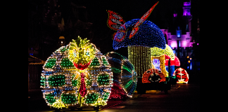 The Main Street Electrical Parade in Disneyland