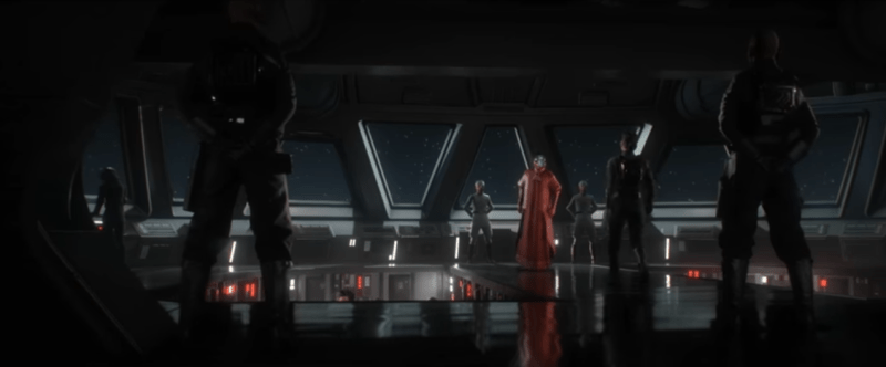 Could this hologram-faced mystery man be Supreme Leader Snoke, ready to bankroll The First Order?