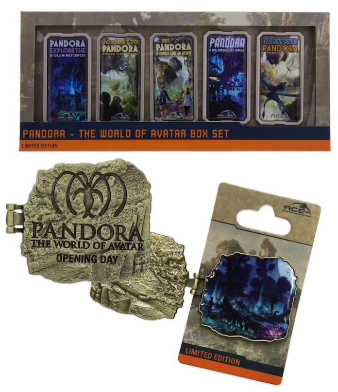 pandora-world-of-avatar-disney's-animal-kingdom-limited-boxed-pin-set-opening-day-