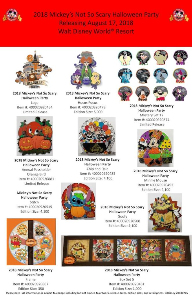 2018 Mickey\'s Not So Scary Halloween Party Disney Trading Pins | The ...