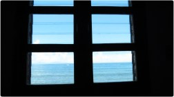 Shapes: jalousie window at the resort in Tiwi