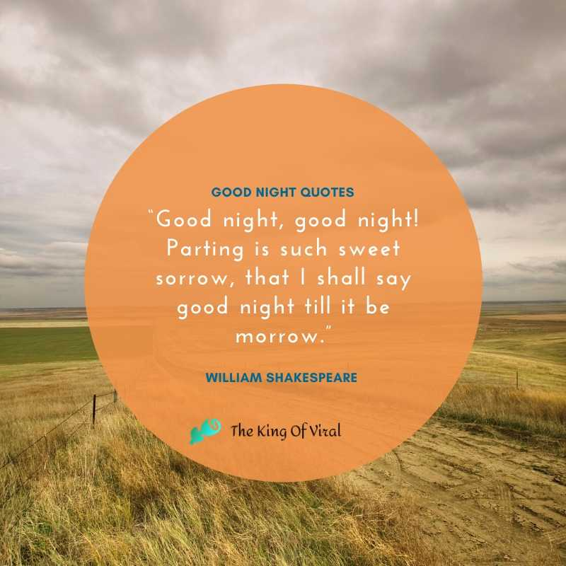Grass and Sky Goodnight Quotes