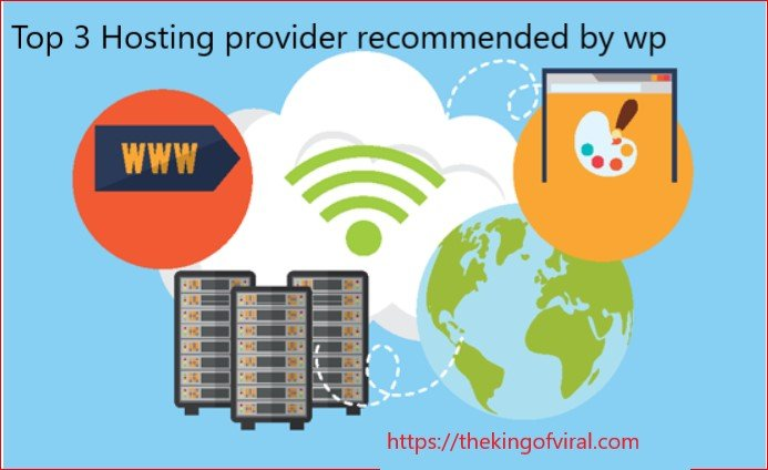 Top 3 Hosting provider recommended by wp