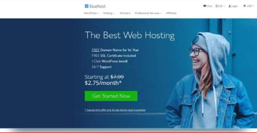 Bluehost wordpress Recommended hosting
