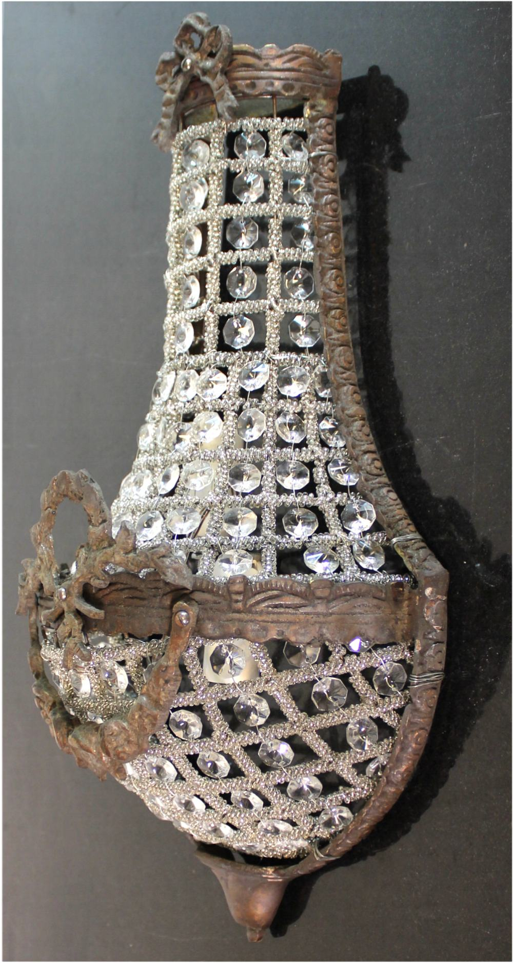 European Crystal Antique Replica SMALL Wall Sconce Light ... on Small Wall Sconce Light id=44347