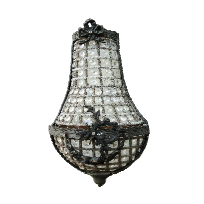 European Crystal Antique Replica SMALL Wall Sconce Light ... on Small Wall Sconce Light id=75184